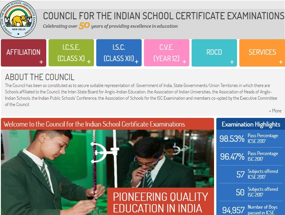 CISCE BOARD EXAM TIME TABLE 2018