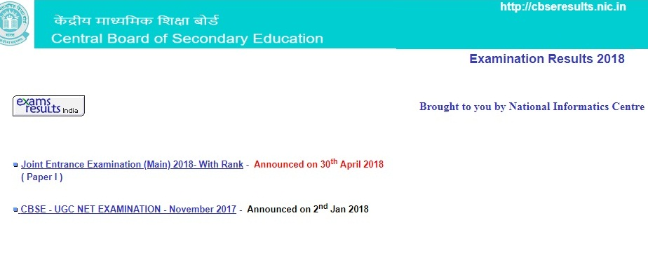 CBSE Board Class 10th Result 2018