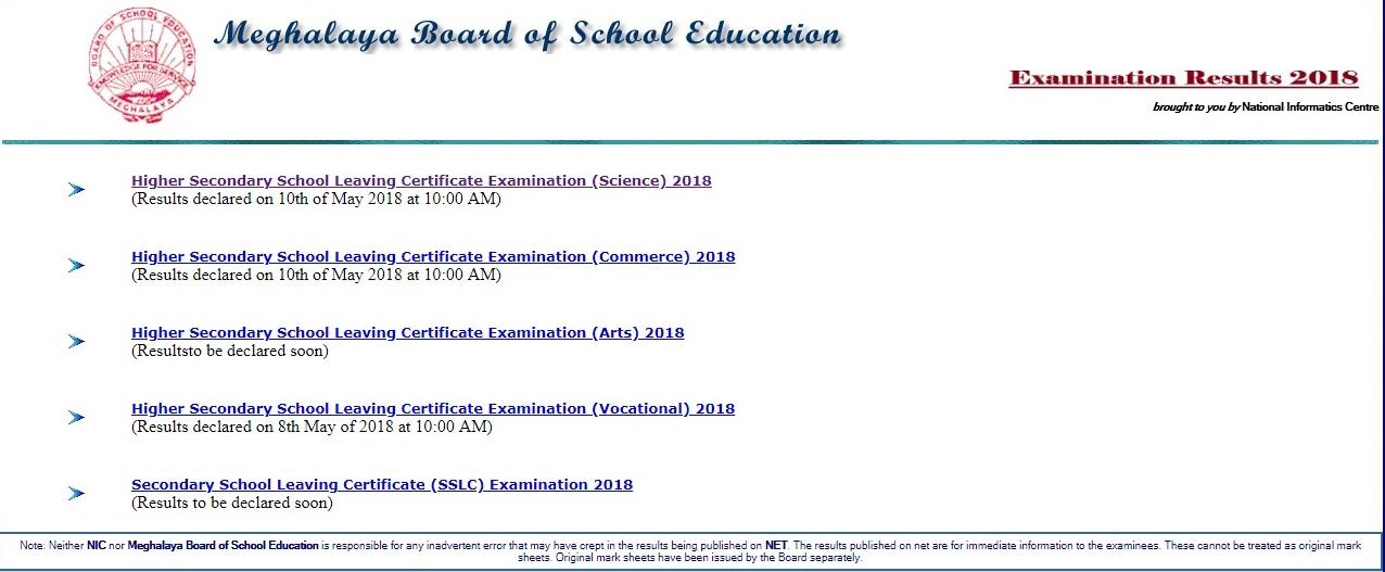 Meghalaya Board Class 12th Result 2020