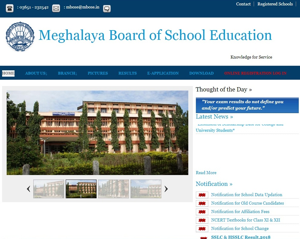 Meghalaya Board Class 10th Result 2019